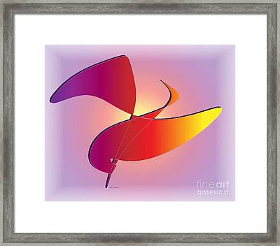 Framed Print featuring the digital art Flight by Iris Gelbart