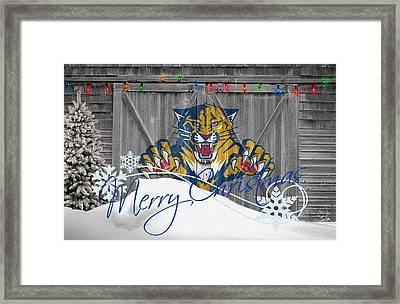 Florida Panthers Framed Print by Joe Hamilton