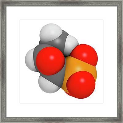 Fosfomycin Antibacterial Drug Molecule Framed Print by Molekuul