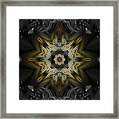Fractal Kaleidoscope Framed Print by Gina Lee Manley