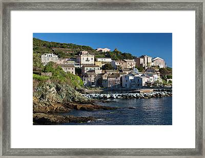 France, Corsica, Le Cap Corse Framed Print by Walter Bibikow