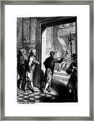 Franklin At Versailles Framed Print by Granger