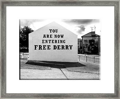 Free Derry Corner 5 Framed Print