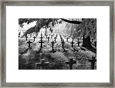 Frost At Cemetery Framed Print by Dirk Ercken