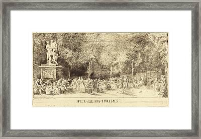 Gabriel Jacques De Saint-aubin French, 1724 - 1780 Framed Print by Quint Lox
