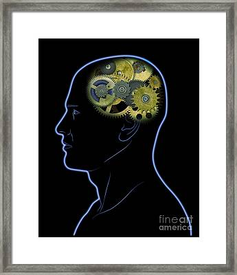 Gears In The Head Framed Print