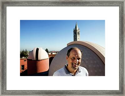 Geoffrey Marcy Framed Print by Peter Menzel