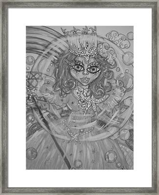 #5 Glinda The Good Witch In Black And White Framed Print by Terri Allbright