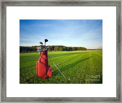 Golf Gear Framed Print by Michal Bednarek