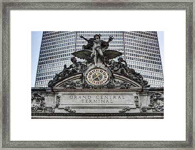 Grand Central Terminal Facade Framed Print
