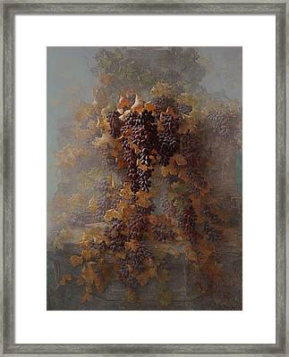 Grapes And Architecture Framed Print by Edwin Deakin