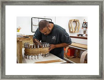 Guitar Factory Framed Print by Jim West