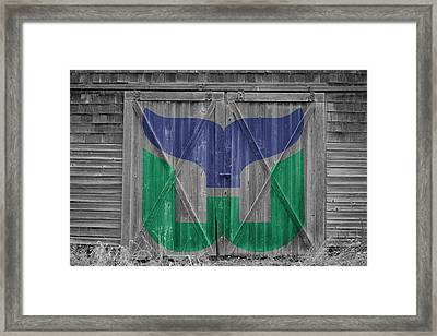 Hartford Whalers Framed Print by Joe Hamilton