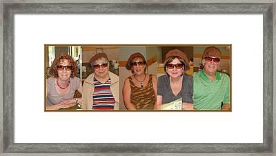 5 Hats Framed Print by Sanford