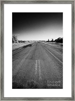 highway 34 near bengough Saskatchewan Canada Framed Print