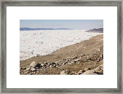 Icebergs From The Jakobshavn Glacier Framed Print