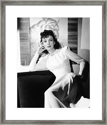 Ida Lupino, Warner Bros. Portrait Framed Print