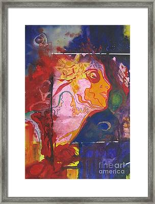 Framed Print featuring the painting Imagine by Diana Bursztein