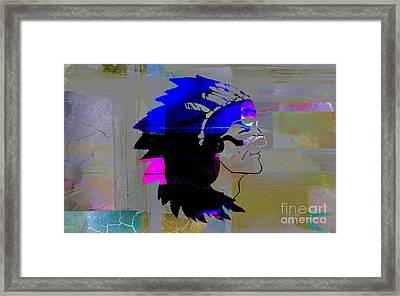 Indian Chief Framed Print by Marvin Blaine