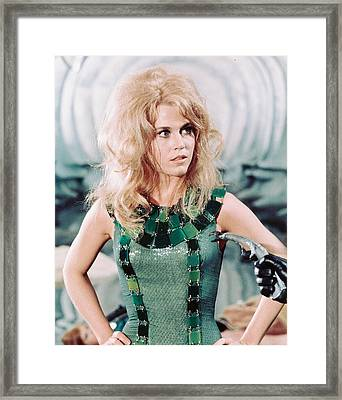 Jane Fonda In Barbarella  Framed Print by Silver Screen