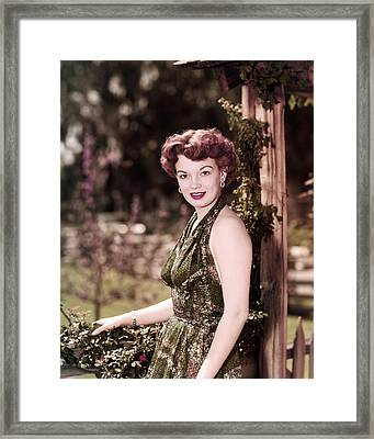 Joan Evans Framed Print by Silver Screen