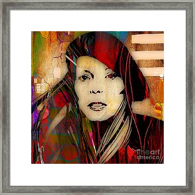 Joni Mitchell Collection Framed Print by Marvin Blaine