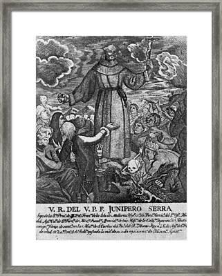 Jun�pero Serra (1713-1784) Framed Print