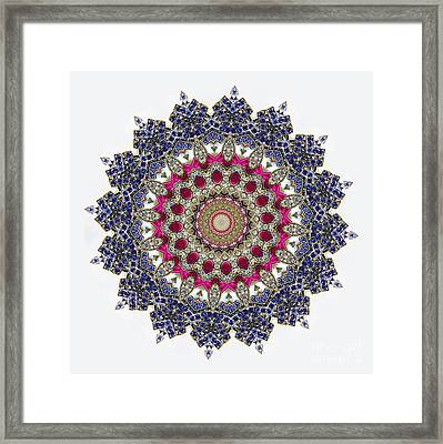Kaleidoscope Colorful Jeweled Rhinestones Framed Print by Amy Cicconi