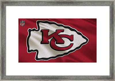 Kansas City Chiefs Uniform Framed Print by Joe Hamilton