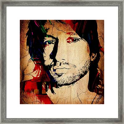 Keith Urban Collection Framed Print by Marvin Blaine