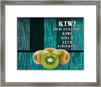Kiwi Farm Framed Print