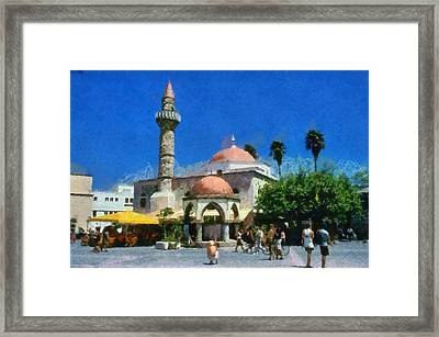 City Of Kos Framed Print by George Atsametakis
