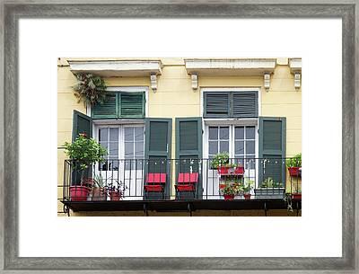 La, New Orleans, French Quarter Framed Print