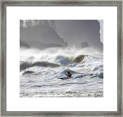 La Push Pummel And Sea Stacks Framed Print by Gary Luhm