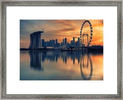 Landscape Of The Singapore Framed Print