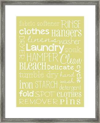 Laundry Room Framed Print by Jaime Friedman