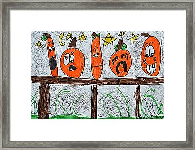 5 Little Pumpkins Framed Print