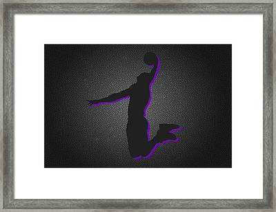 Los Angeles Lakers Framed Print by Joe Hamilton