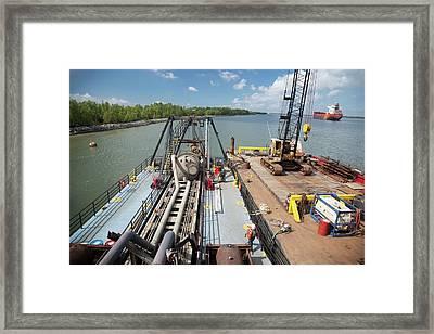 Louisiana Wetlands Restoration Project Framed Print by Jim West