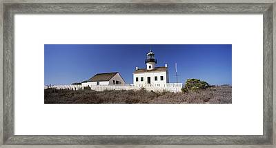 Low Angle View Of A Lighthouse, Point Framed Print