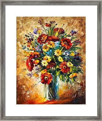 Magic Flowers Framed Print by Leonid Afremov