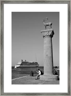 Mandraki Port Framed Print by George Atsametakis