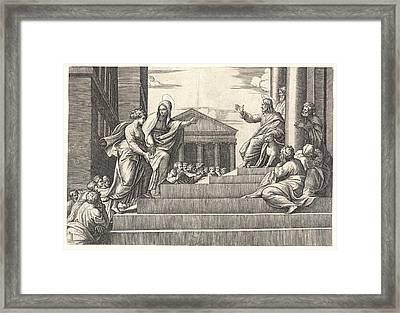 Marcantonio Raimondi Italian, Ca. 14701482 - 15271534 Framed Print