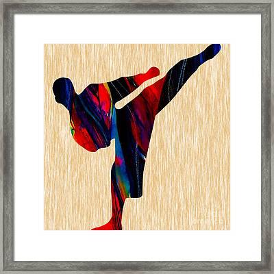Martial Arts Karate Framed Print