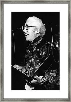 Melba Phillips Framed Print by Emilio Segre Visual Archives/american Institute Of Physics