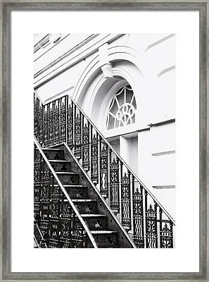 Metal Stairs Framed Print by Tom Gowanlock