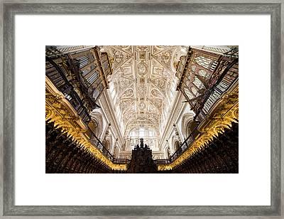 Mezquita Cathedral Interior In Cordoba Framed Print