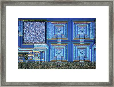 Microchip Surface Framed Print by Frank Fox