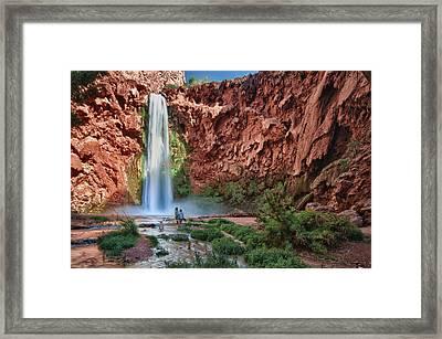 Mooney Falls Framed Print by Jacek Joniec