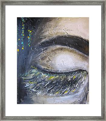 Framed Print featuring the painting 5 More Minutes by Lucy Matta